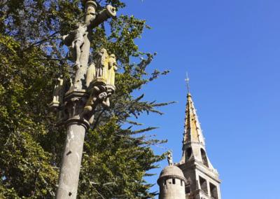 Calvaire et clocher de Trédrez